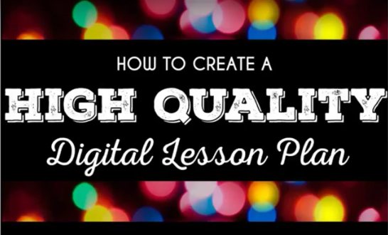 Plan High Quality Lessons With Technology - Technology integration lesson plan template